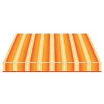 Tenda da sole a caduta cassonata Tempotest Parà 300 x 250 cm arancione/avorio/rosso/giallo Cod. 943/72