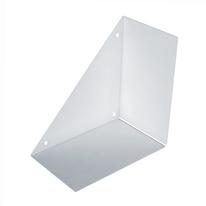 Mensola a L bianco L 30 x P 30, sp 18 cm
