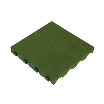 Piastrella polipropilene chiusa 40 x 40  cm x 48  mm verde