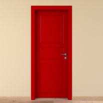 Porta da interno battente New York rosso 80 x H 210 cm sx