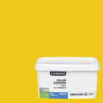 Idropittura lavabile Mano unica Giallo Canarino 2 - 2,5 L Luxens