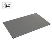 Ripiano in metallo grigio martellato 120 x 60 cm