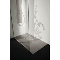Piatto doccia resina Liso 100 x 100 cm cemento