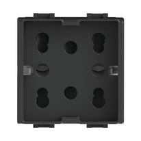 Presa schuko 4box SIDE antracite