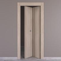 Porta da interno pieghevole Plank palissandro bianco 70 x H 210 cm dx