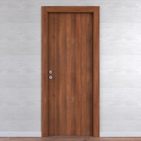 Porta da interno battente One walnut noce 90 x H 210 cm reversibile