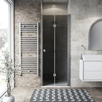 Porta doccia Neo 92-96, H 201,7 cm vetro temperato 6 mm fumè/silver