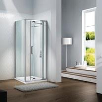 Porta doccia Slimline 90-100, H 195 cm cristallo 6 mm trasparente/silver