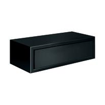 Mensola con cassetto Spaceo nero, sp 1,8 cm