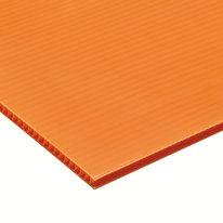 Lastra polionda arancione 2000 x 1000  mm, spessore 2,5 mm