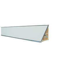 Alzatina alluminio bianco L 300 x H 2,7 cm
