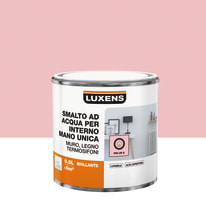 Smalto manounica Luxens all'acqua Rosa Pinup 6 brillante 0.5 L