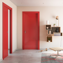 Porta da interno battente Massaua red rosso 80 x H 210 cm dx