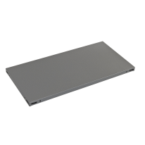 Ripiano in metallo grigio martellato 100 x 30 cm