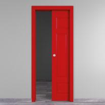 Porta da interno scorrevole Coconut Groove rosso 80 x H 210 cm reversibile