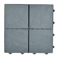 Piastrella pietra 30 x 30  cm x 28  mm grigio