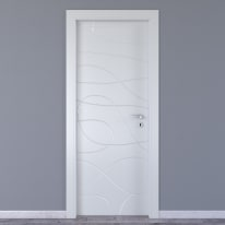 Porta da interno battente Wind white bianco 70 x H 210 cm sx