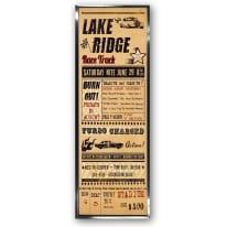 Stampa incorniciata Lake Ridge 30 x 90 cm
