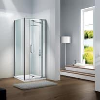 Porta doccia Slimline 110-120, H 195 cm cristallo 6 mm trasparente/silver