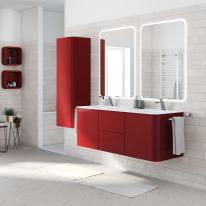 Mobile bagno Liverpool rosso L 140 cm