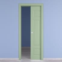 Porta da interno scorrevole Coconut Groove verde 60 x H 210 cm reversibile