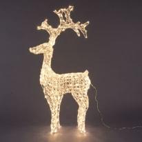 Renna di cristalli 250 minilucciole Led classica gialla H 120 cm