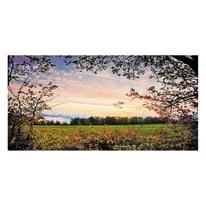 quadro su tela Autumn red sunset 50x125