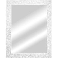 specchio da parete rettangolare Glitterata bianco 66,5 x 96,5 cm