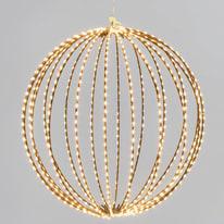 Decorazione luminosa a sfera 3d 700 minilucciole Led classica gialla L 40 cm