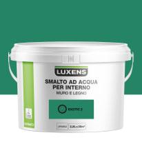 Smalto Luxens all'acqua Verde Esotico 2 satinato 2.5 L