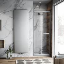 Porta doccia Namara 115-120, H 195 cm cristallo 8 mm trasparente/silver