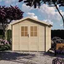 casetta in legno grezzo Alice 5,3 m², spessore 18 mm