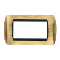 Placca 4 moduli CAL Living International bronzo