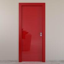 Porta da interno battente Massaua red rosso 70 x H 210 cm sx