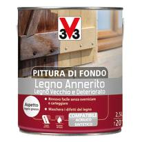 Trattamento schiarente per legno Pittura di fondo legno annerito bianco 2,5 L