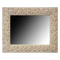 specchio da parete rettangolare Floreal bianco 54 x 84 cm