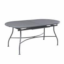 Tavolo allungabile Evo, 180 x 90 cm grigio antracite
