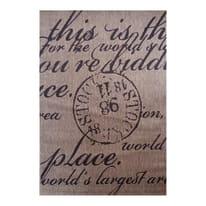 Tappeto Cottage poesia beige, nero 200 x 300 cm