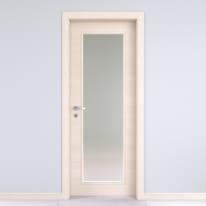 Porta da interno battente Lucad vetro graf matrix 80 x H 210 cm reversibile