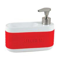 Porta spugna bianco/rosso L 18,5 x P 6,5 x H 16 cm