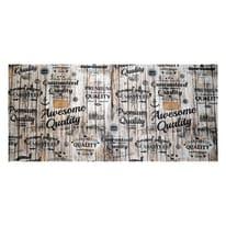 Tappetino cucina antiscivolo Digit grigio 52 x 280 cm