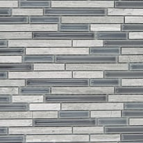 Mosaico Berlino 37 x 29,5 cm bianco, antracite