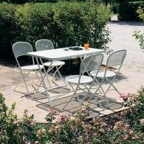 Tavolo pieghevole Cassis, 118 x 76 cm bianco