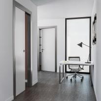 Porta per ufficio battente Frame eco bianco 80 x H 210 cm dx