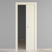 Porta da interno scorrevole Wind ivory avorio 70 x H 210 cm reversibile