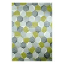 Tappeto Esagon verde, grigio 160 x 230 cm