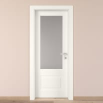 Porta da interno battente Shibuya Vetro Bianco 90 x H 210 cm sx