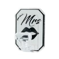 Gancio da parete adesivo Mrs L 50 x H 75 mm