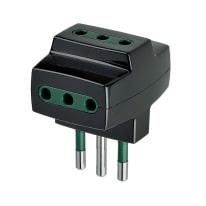Adattatore RI.00320N - S11 + P30 multiplo 10A, Vimar nero