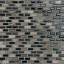 Mosaico Malibu' 30 x 30 cm bianco, nero, grigio